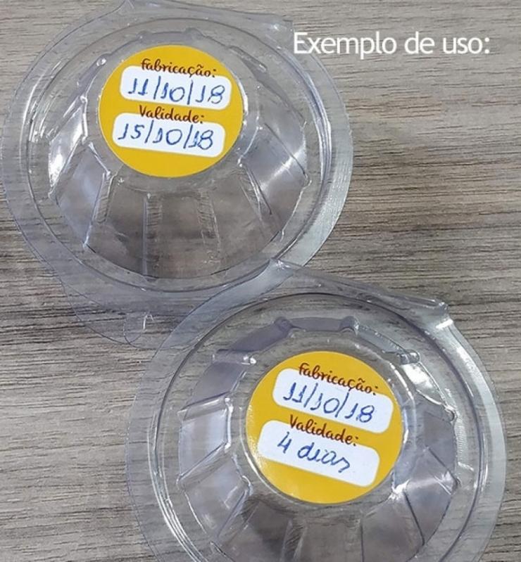 Etiqueta Adesiva em Rolo Chácara Flora - Etiquetas Adesivas Redondas