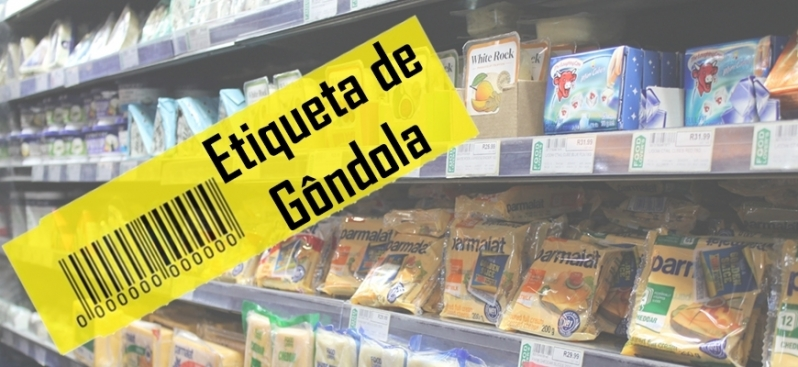 Etiqueta para Gondola de Supermercado Valor Vila Tramontano - Etiqueta de Preço para Gondola