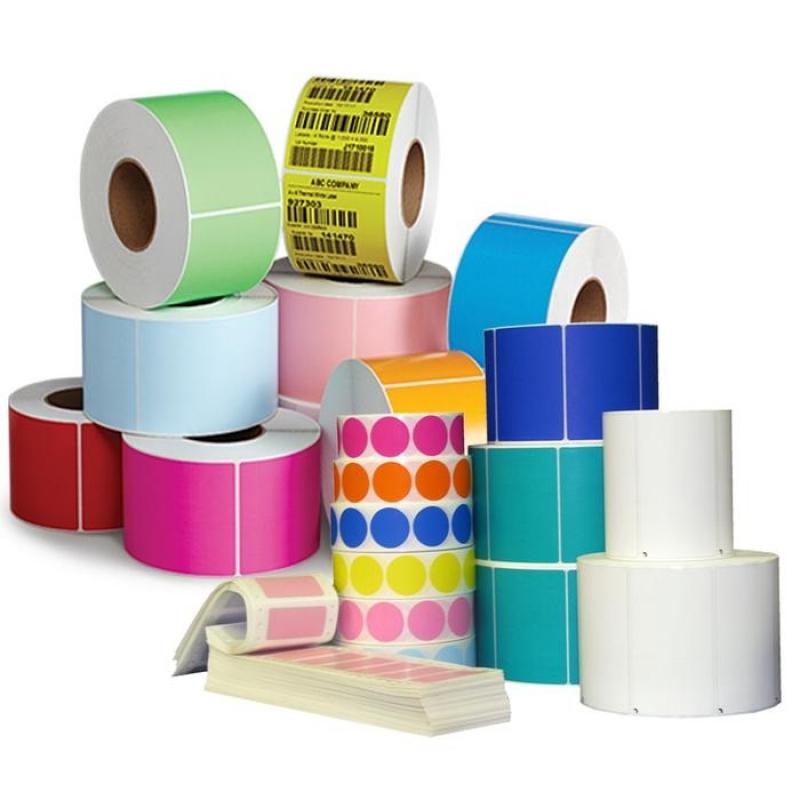 Etiquetas Adesivas Coloridas Santa Cruz - Etiquetas Adesivas em Rolo