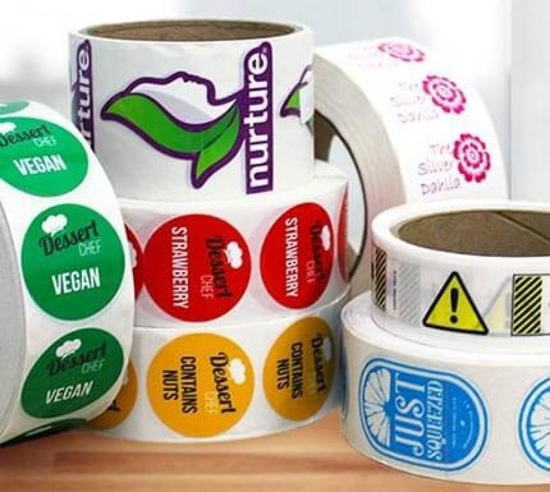 Etiquetas Adesivas Personalizadas Água Rasa - Etiquetas Adesivas A4
