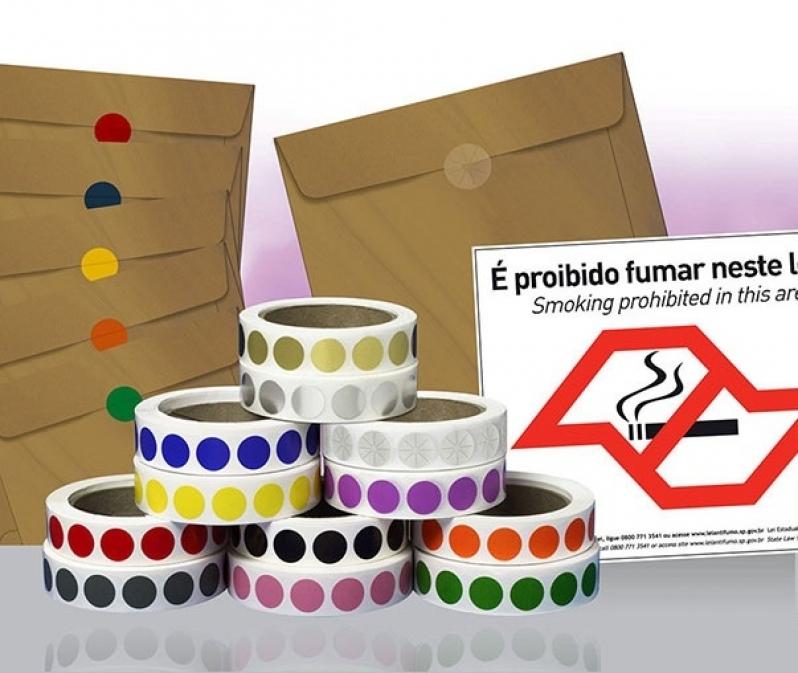 Etiquetas Adesivas Redondas Chácara Flora - Etiquetas Auto Adesivas Personalizadas