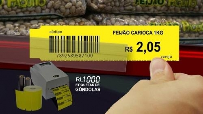 Etiquetas Gondola 100x30 Parque São Rafael - Etiqueta para Gondola