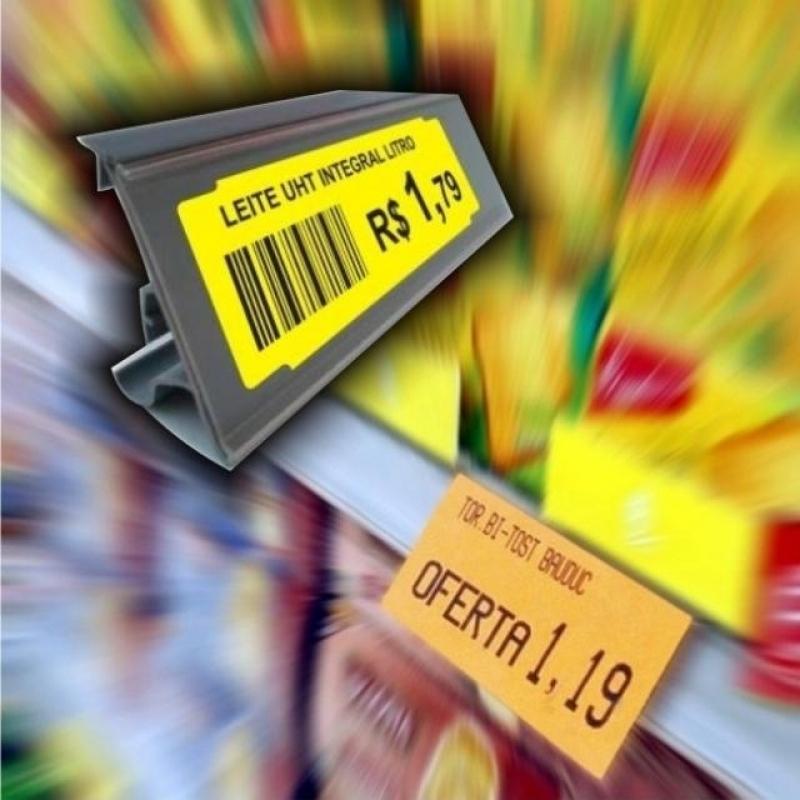 Etiquetas para Gondola Amarela Interlagos - Etiqueta de Gondola Branca