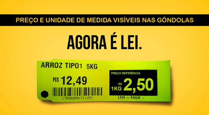Etiquetas para Gondola de Supermercado  Fazenda Morumbi - Etiqueta para Gondola Amarela