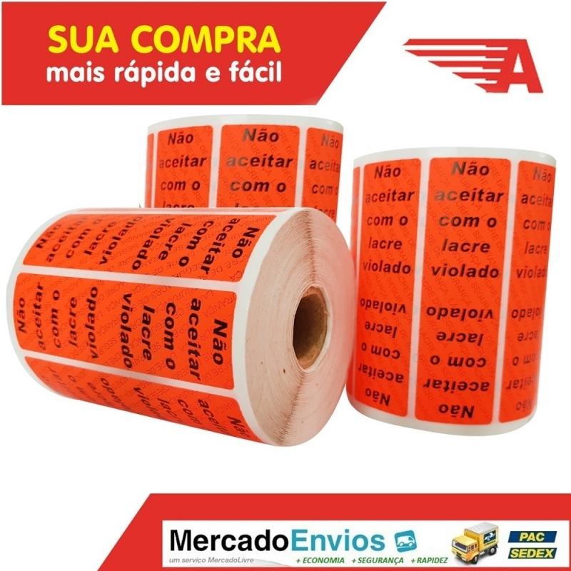 Fabrica de Lacre de Segurança Orçamentos Jardim Paulista - Lacre de Segurança Adesivo