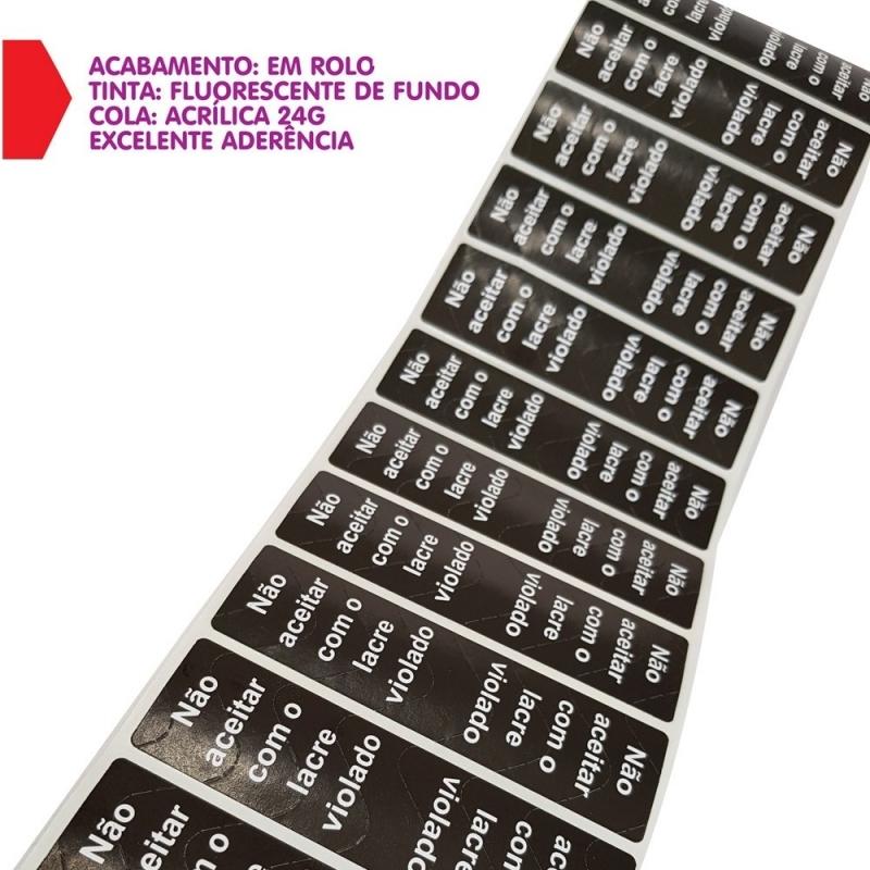 Fabricação de Lacre de Segurança Metálico Distrito Industrial Anhanguera - Lacre de Segurança Transparente