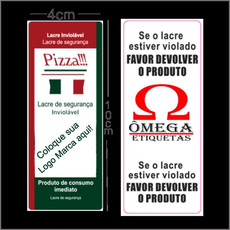 Lacre Adesivo Orçamento Ibirapuera - Lacre Adesivo de Segurança