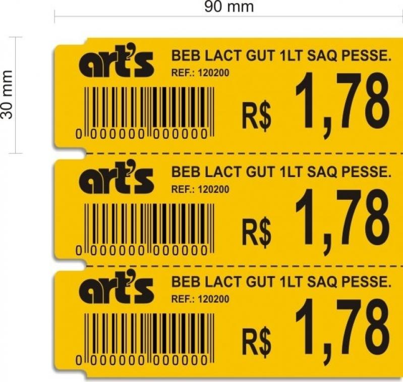 Orçamento de Impressora de Etiqueta de Gondola Consolação - Etiqueta para Gondola Amarela