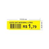 etiqueta de gondola amarela Vila Cruzeiro