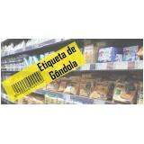 etiqueta para gondola de supermercado