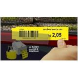 etiqueta de preço para gondola valor Sacomã
