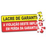 lacres de segurança adesivo Jardim Paulistano