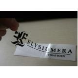 valor de rótulos adesivos transparentes Vila Formosa